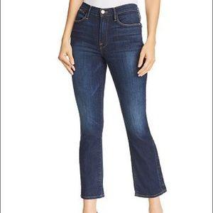 Frame le high Straight Leg jeans Snap Hem Meribel